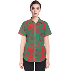 Christmas Background Women s Short Sleeve Shirt