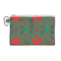 Christmas Background Canvas Cosmetic Bag (large)