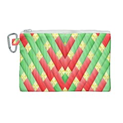 Christmas Geometric 3d Design Canvas Cosmetic Bag (large) by Sapixe