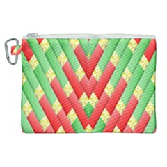 Christmas Geometric 3d Design Canvas Cosmetic Bag (xl) by Sapixe