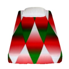 Christmas Geometric Background Fitted Sheet (single Size) by Sapixe