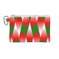 Christmas Geometric Background Canvas Cosmetic Bag (medium) by Sapixe