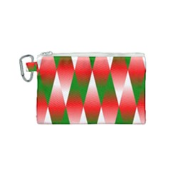 Christmas Geometric Background Canvas Cosmetic Bag (small)