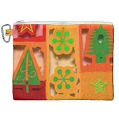 Christmas Design Seamless Pattern Canvas Cosmetic Bag (xxl)