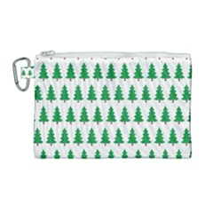 Christmas Background Christmas Tree Canvas Cosmetic Bag (large)