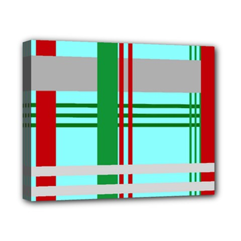 Christmas Plaid Backgrounds Plaid Canvas 10  X 8  by Sapixe