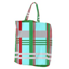 Christmas Plaid Backgrounds Plaid Giant Grocery Zipper Tote