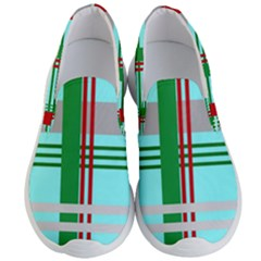 Christmas Plaid Backgrounds Plaid Men s Lightweight Slip Ons by Sapixe