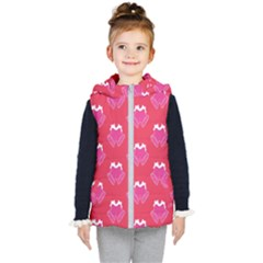 Christmas Red Pattern Reasons Kid s Hooded Puffer Vest