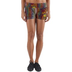 Fire New Year S Eve Spark Sparkler Yoga Shorts