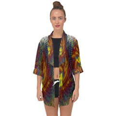 Fire New Year S Eve Spark Sparkler Open Front Chiffon Kimono