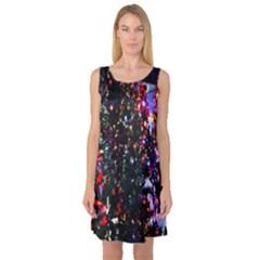 Abstract Background Celebration Sleeveless Satin Nightdress by Sapixe