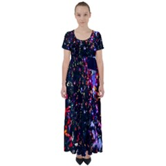 Abstract Background Celebration High Waist Short Sleeve Maxi Dress