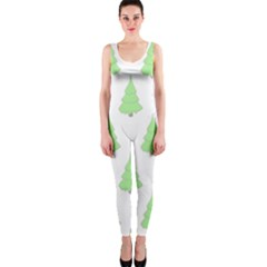 Background Christmas Christmas Tree One Piece Catsuit by Sapixe