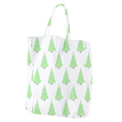 Background Christmas Christmas Tree Giant Grocery Zipper Tote