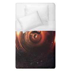 Steampunk Airship Sailing The Stars Of Deep Space Duvet Cover (single Size) by jayaprime