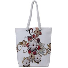 Gems Gemstones Jewelry Jewel Full Print Rope Handle Tote (small) by Sapixe