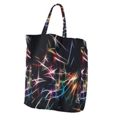 Lights Star Sky Graphic Night Giant Grocery Zipper Tote