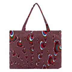 Mandelbrot Fractal Mathematics Art Medium Tote Bag by Sapixe