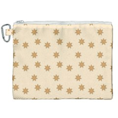 Pattern Gingerbread Star Canvas Cosmetic Bag (xxl) by Sapixe