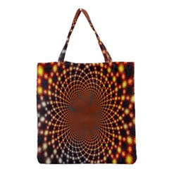 Pattern Texture Star Rings Grocery Tote Bag by Sapixe