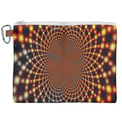 Pattern Texture Star Rings Canvas Cosmetic Bag (xxl) by Sapixe