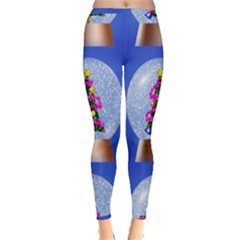 Seamless Repeat Repeating Pattern Art Inside Out Leggings