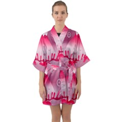 Seamless Repeat Repeating Pattern Quarter Sleeve Kimono Robe