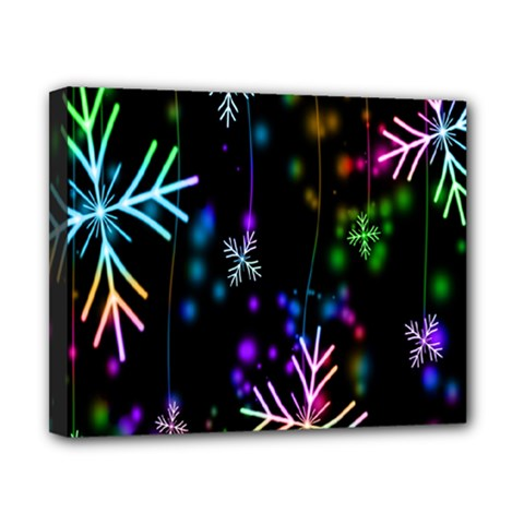 Snowflakes Snow Winter Christmas Canvas 10  X 8  by Sapixe