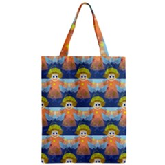 Seamless Repeat Repeating Pattern Zipper Classic Tote Bag by Sapixe