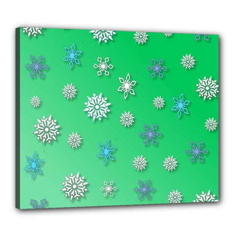 Snowflakes Winter Christmas Overlay Canvas 24  X 20  by Sapixe