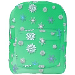 Snowflakes Winter Christmas Overlay Full Print Backpack