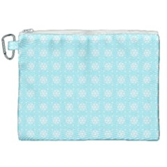 Snowflakes Paper Christmas Paper Canvas Cosmetic Bag (xxl) by Sapixe