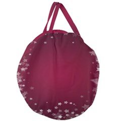 Star Background Christmas Red Giant Round Zipper Tote