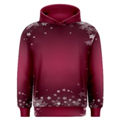 Star Background Christmas Red Men s Overhead Hoodie