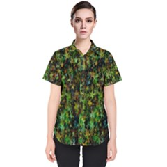 Star Abstract Advent Christmas Women s Short Sleeve Shirt