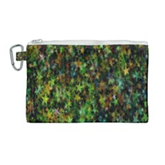 Star Abstract Advent Christmas Canvas Cosmetic Bag (large) by Sapixe