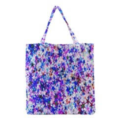 Star Abstract Advent Christmas Grocery Tote Bag by Sapixe