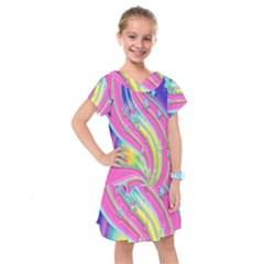Star Christmas Pattern Texture Kids  Drop Waist Dress
