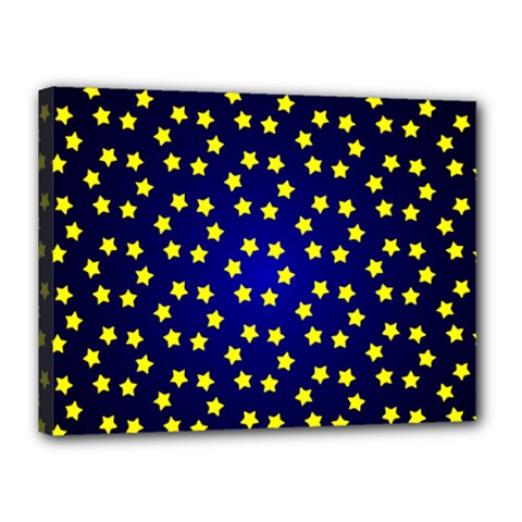 Star Christmas Red Yellow Canvas 16  X 12  by Sapixe