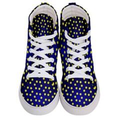 Star Christmas Red Yellow Women s Hi Top Skate Sneakers