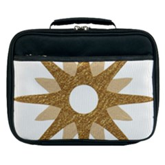 Star Golden Glittering Yellow Rays Lunch Bag