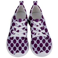 Circles2 White Marble & Purple Leather (r) Women s Lightweight Sports Shoes