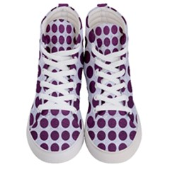 Circles1 White Marble & Purple Leather (r) Women s Hi Top Skate Sneakers