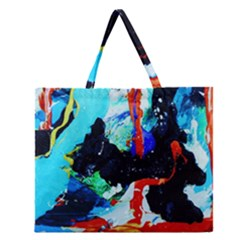 Roundway Ticket 8 Zipper Large Tote Bag by bestdesignintheworld