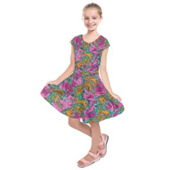 Flower Paisley 1 Kids  Short Sleeve Dress