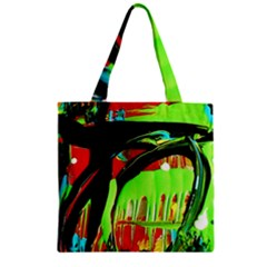 Quiet Place Zipper Grocery Tote Bag by bestdesignintheworld