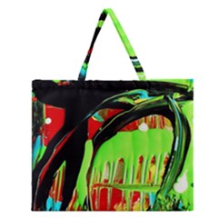 Quiet Place Zipper Large Tote Bag by bestdesignintheworld