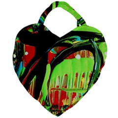 Quiet Place Giant Heart Shaped Tote by bestdesignintheworld