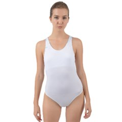 The Background Snow Snowflakes Cut Out Back One Piece Swimsuit